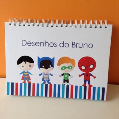 Cadernos personalizados para desenho